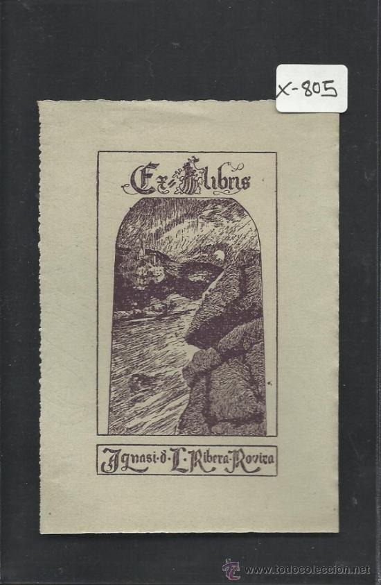 EX LIBRIS - IGNASI RIBERA - (X-805) (Arte - Ex Libris)