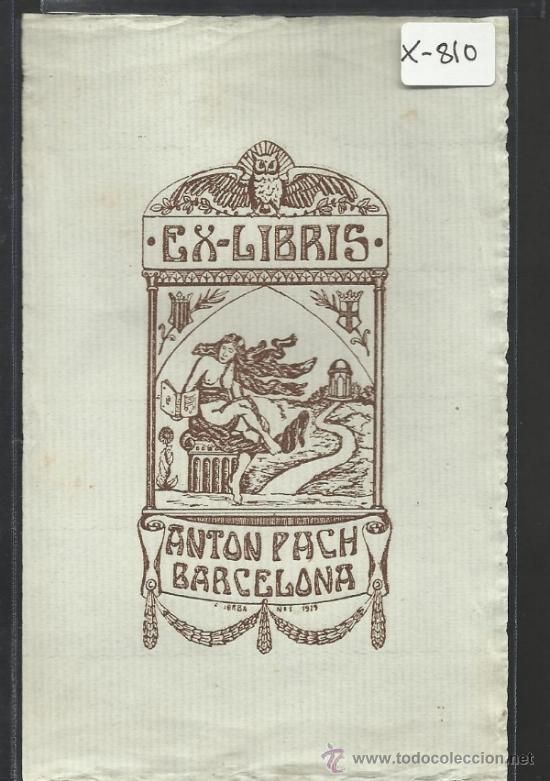 EX LIBRIS - ANTON PACH - (X-810) (Arte - Ex Libris)