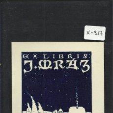 Arte: EX LIBRIS - J. MRAZ - (X-817). Lote 35677315