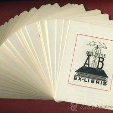 Arte: LOTE DE MAS DE 100 EX LIBRIS , EXLIBRIS , ANGEL BATLLE , TINTA NEGRA , ORIGINAL. Lote 36923448