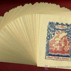 Arte: LOTE DE MAS DE 100 EX LIBRIS , EXLIBRIS , ANGEL BATLLE Y TEJEDOR , ORIGINAL. Lote 36923509
