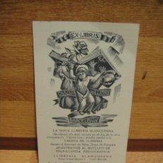 Arte: ETIQUETA PUBLICITARIA EX LIBRIS - LA NOVA LLIBRERIA BLANQUERNA - ST JORDI 1963 - 14 X 9 CNTº. Lote 37208513