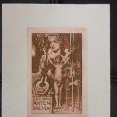 Arte: TRIADO AGUAFUERTE EX LIBRIS PARA ANTONI DALMAU EXLIBRIS - OPUS 162. Lote 57494585