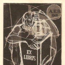 Arte: EXLIBRIS PRESENTADO EN EL CONCURSO DE LA A.E.B. DE 1961. Lote 29675863