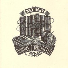 Arte: EX-LIBRIS DE MARIA FIGUEROLA I RUBIO PARA DOLORS CORNUDELLA - 1959. Lote 40176529