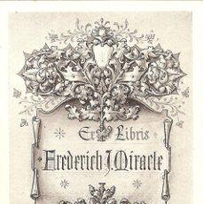 Arte: EX-LIBRIS DE JOHN VINYCOMB M. RIN PARA FREDERICH J. MIRACLE. Lote 40444144