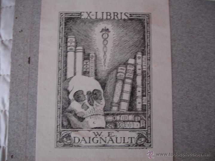 COLECCION UNICA DE EXLIBRIS TODOS DISTINTOS ORIGINALES MUY ANTIGUOS ALGUNOS FIRMADOS CUBA (Arte - Ex Libris)