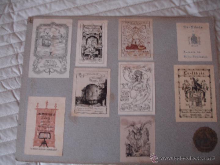 Arte: COLECCION UNICA DE EXLIBRIS TODOS DISTINTOS ORIGINALES MUY ANTIGUOS ALGUNOS FIRMADOS CUBA - Foto 4 - 42299647