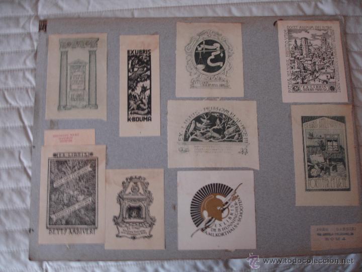 Arte: COLECCION UNICA DE EXLIBRIS TODOS DISTINTOS ORIGINALES MUY ANTIGUOS ALGUNOS FIRMADOS CUBA - Foto 7 - 42299647