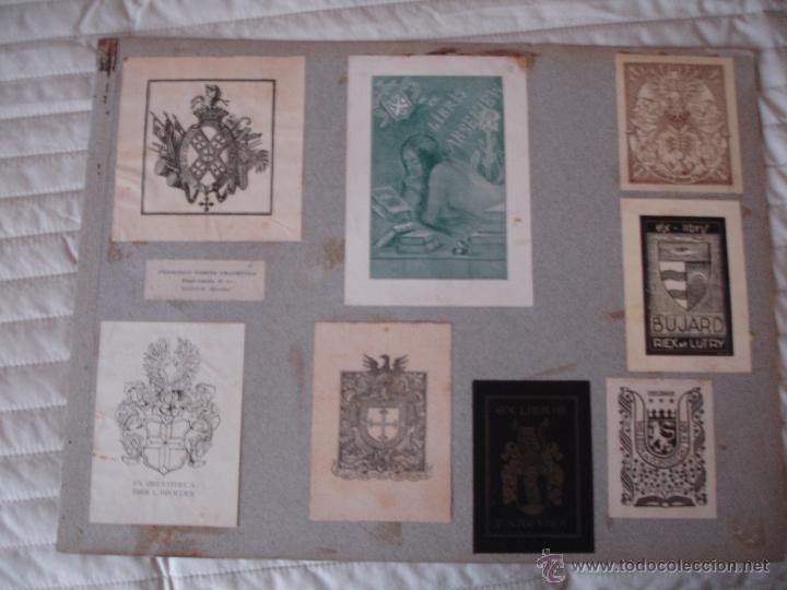 Arte: COLECCION UNICA DE EXLIBRIS TODOS DISTINTOS ORIGINALES MUY ANTIGUOS ALGUNOS FIRMADOS CUBA - Foto 8 - 42299647