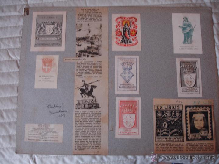 Arte: COLECCION UNICA DE EXLIBRIS TODOS DISTINTOS ORIGINALES MUY ANTIGUOS ALGUNOS FIRMADOS CUBA - Foto 15 - 42299647