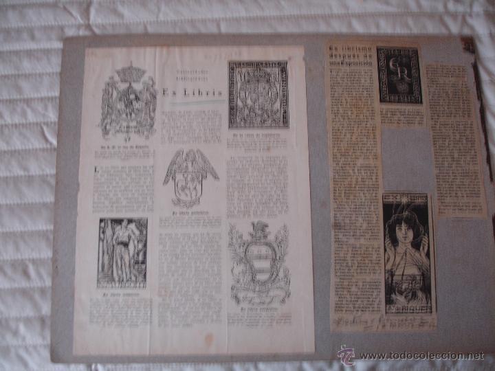 Arte: COLECCION UNICA DE EXLIBRIS TODOS DISTINTOS ORIGINALES MUY ANTIGUOS ALGUNOS FIRMADOS CUBA - Foto 16 - 42299647