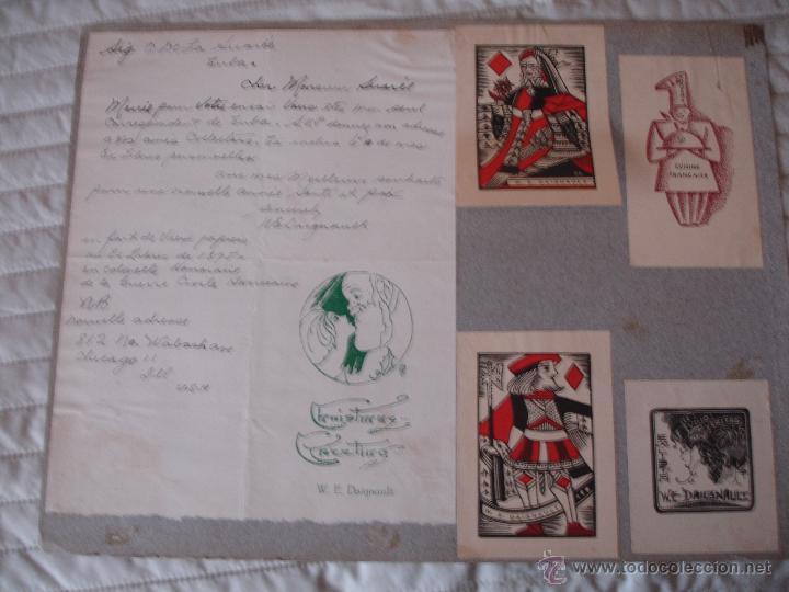 Arte: COLECCION UNICA DE EXLIBRIS TODOS DISTINTOS ORIGINALES MUY ANTIGUOS ALGUNOS FIRMADOS CUBA - Foto 31 - 42299647