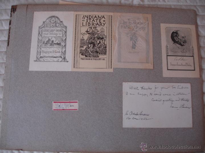 Arte: COLECCION UNICA DE EXLIBRIS TODOS DISTINTOS ORIGINALES MUY ANTIGUOS ALGUNOS FIRMADOS CUBA - Foto 32 - 42299647