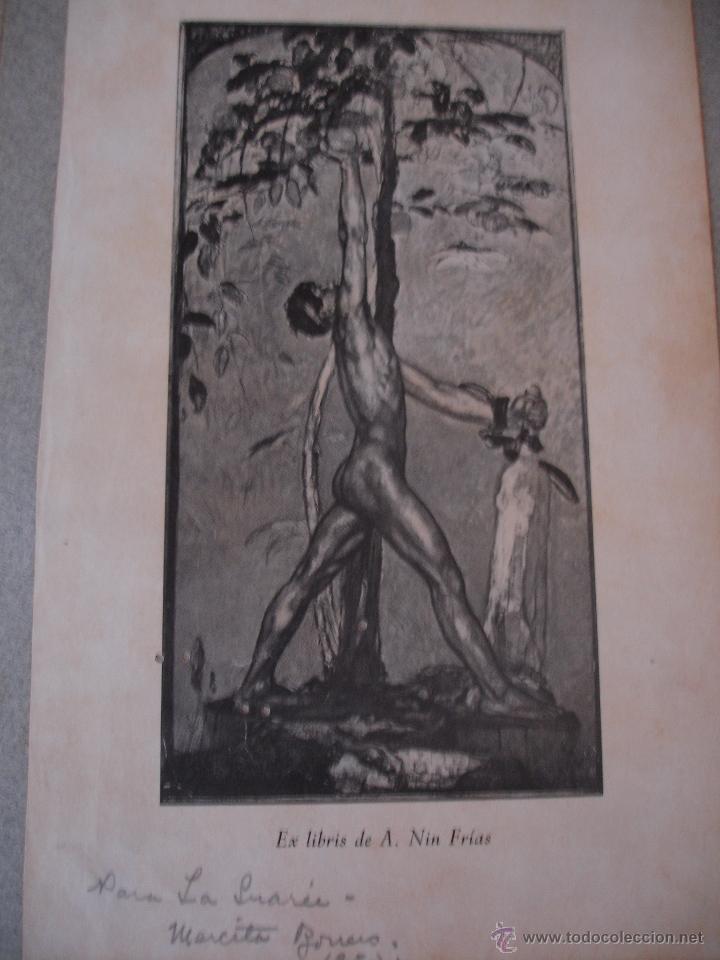 Arte: COLECCION UNICA DE EXLIBRIS TODOS DISTINTOS ORIGINALES MUY ANTIGUOS ALGUNOS FIRMADOS CUBA - Foto 33 - 42299647
