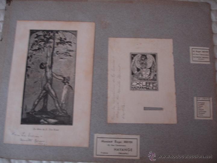 Arte: COLECCION UNICA DE EXLIBRIS TODOS DISTINTOS ORIGINALES MUY ANTIGUOS ALGUNOS FIRMADOS CUBA - Foto 34 - 42299647
