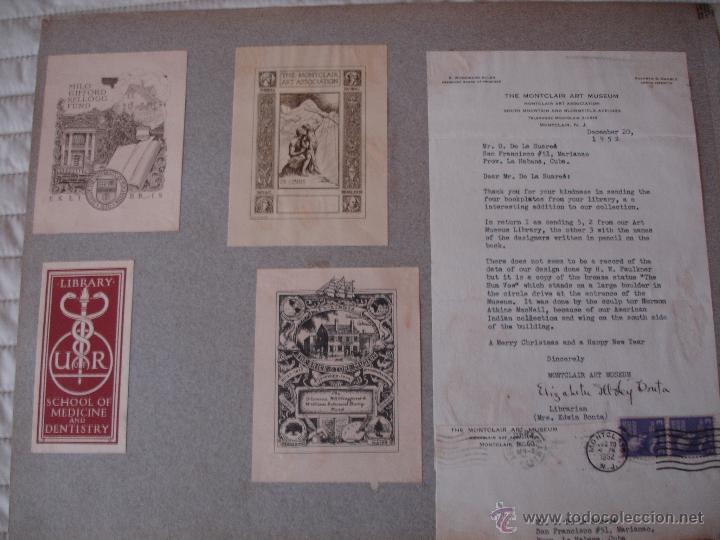 Arte: COLECCION UNICA DE EXLIBRIS TODOS DISTINTOS ORIGINALES MUY ANTIGUOS ALGUNOS FIRMADOS CUBA - Foto 35 - 42299647