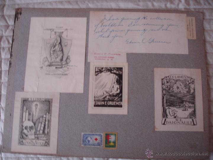 Arte: COLECCION UNICA DE EXLIBRIS TODOS DISTINTOS ORIGINALES MUY ANTIGUOS ALGUNOS FIRMADOS CUBA - Foto 36 - 42299647