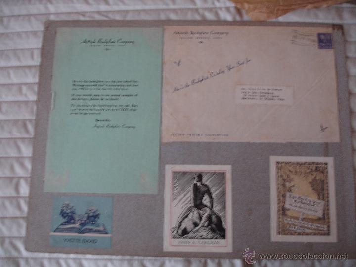 Arte: COLECCION UNICA DE EXLIBRIS TODOS DISTINTOS ORIGINALES MUY ANTIGUOS ALGUNOS FIRMADOS CUBA - Foto 37 - 42299647