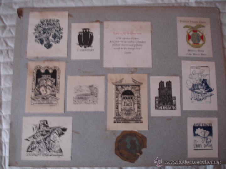 Arte: COLECCION UNICA DE EXLIBRIS TODOS DISTINTOS ORIGINALES MUY ANTIGUOS ALGUNOS FIRMADOS CUBA - Foto 38 - 42299647
