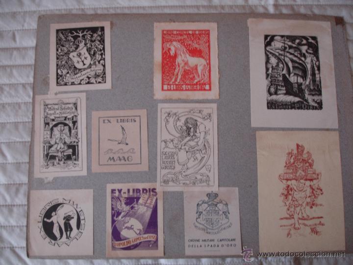 Arte: COLECCION UNICA DE EXLIBRIS TODOS DISTINTOS ORIGINALES MUY ANTIGUOS ALGUNOS FIRMADOS CUBA - Foto 39 - 42299647