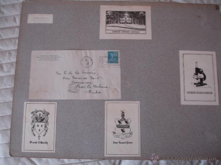Arte: COLECCION UNICA DE EXLIBRIS TODOS DISTINTOS ORIGINALES MUY ANTIGUOS ALGUNOS FIRMADOS CUBA - Foto 40 - 42299647
