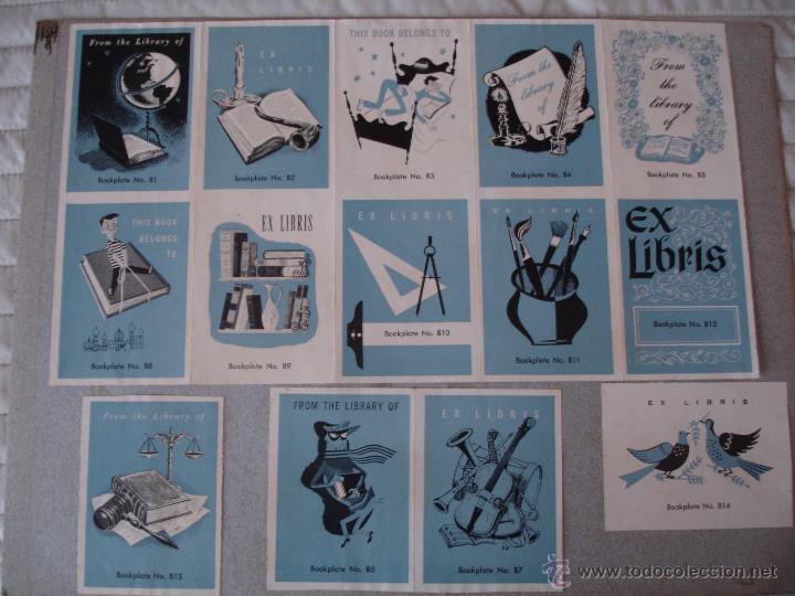 Arte: COLECCION UNICA DE EXLIBRIS TODOS DISTINTOS ORIGINALES MUY ANTIGUOS ALGUNOS FIRMADOS CUBA - Foto 44 - 42299647