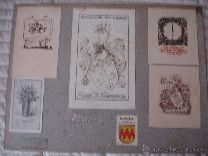 Arte: COLECCION UNICA DE EXLIBRIS TODOS DISTINTOS ORIGINALES MUY ANTIGUOS ALGUNOS FIRMADOS CUBA - Foto 45 - 42299647