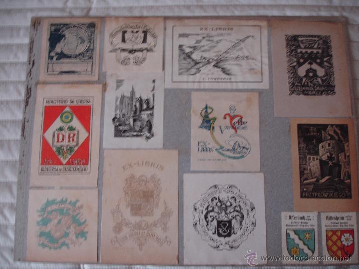 Arte: COLECCION UNICA DE EXLIBRIS TODOS DISTINTOS ORIGINALES MUY ANTIGUOS ALGUNOS FIRMADOS CUBA - Foto 46 - 42299647
