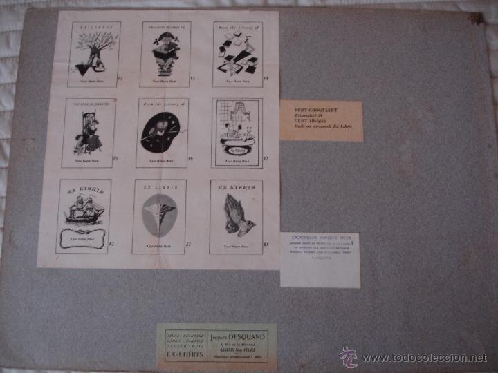 Arte: COLECCION UNICA DE EXLIBRIS TODOS DISTINTOS ORIGINALES MUY ANTIGUOS ALGUNOS FIRMADOS CUBA - Foto 47 - 42299647