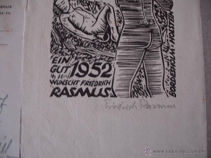 Arte: COLECCION UNICA DE EXLIBRIS TODOS DISTINTOS ORIGINALES MUY ANTIGUOS ALGUNOS FIRMADOS CUBA - Foto 48 - 42299647