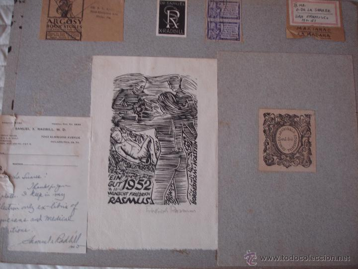 Arte: COLECCION UNICA DE EXLIBRIS TODOS DISTINTOS ORIGINALES MUY ANTIGUOS ALGUNOS FIRMADOS CUBA - Foto 49 - 42299647