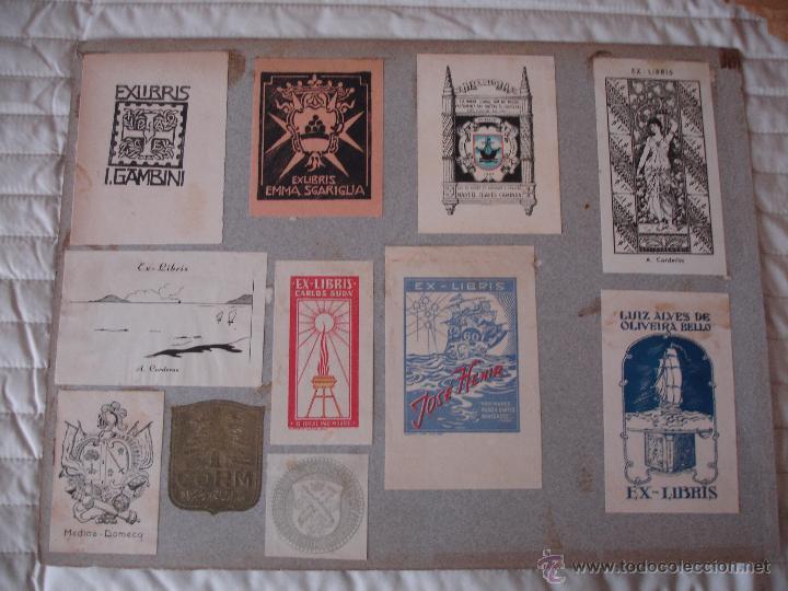 Arte: COLECCION UNICA DE EXLIBRIS TODOS DISTINTOS ORIGINALES MUY ANTIGUOS ALGUNOS FIRMADOS CUBA - Foto 50 - 42299647