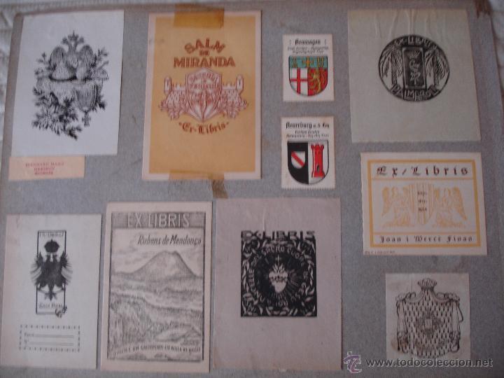 Arte: COLECCION UNICA DE EXLIBRIS TODOS DISTINTOS ORIGINALES MUY ANTIGUOS ALGUNOS FIRMADOS CUBA - Foto 52 - 42299647