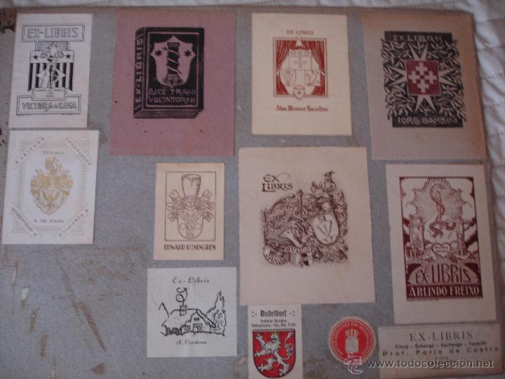 Arte: COLECCION UNICA DE EXLIBRIS TODOS DISTINTOS ORIGINALES MUY ANTIGUOS ALGUNOS FIRMADOS CUBA - Foto 55 - 42299647