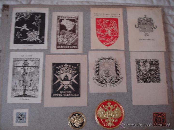 Arte: COLECCION UNICA DE EXLIBRIS TODOS DISTINTOS ORIGINALES MUY ANTIGUOS ALGUNOS FIRMADOS CUBA - Foto 56 - 42299647