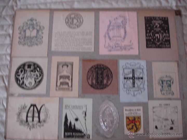 Arte: COLECCION UNICA DE EXLIBRIS TODOS DISTINTOS ORIGINALES MUY ANTIGUOS ALGUNOS FIRMADOS CUBA - Foto 57 - 42299647