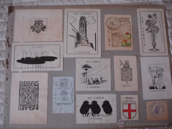 Arte: COLECCION UNICA DE EXLIBRIS TODOS DISTINTOS ORIGINALES MUY ANTIGUOS ALGUNOS FIRMADOS CUBA - Foto 59 - 42299647