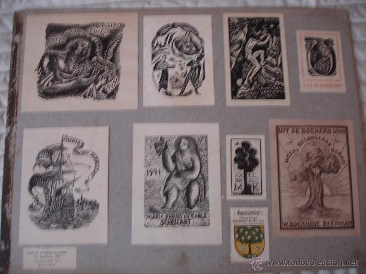 Arte: COLECCION UNICA DE EXLIBRIS TODOS DISTINTOS ORIGINALES MUY ANTIGUOS ALGUNOS FIRMADOS CUBA - Foto 63 - 42299647