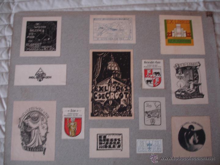 Arte: COLECCION UNICA DE EXLIBRIS TODOS DISTINTOS ORIGINALES MUY ANTIGUOS ALGUNOS FIRMADOS CUBA - Foto 64 - 42299647