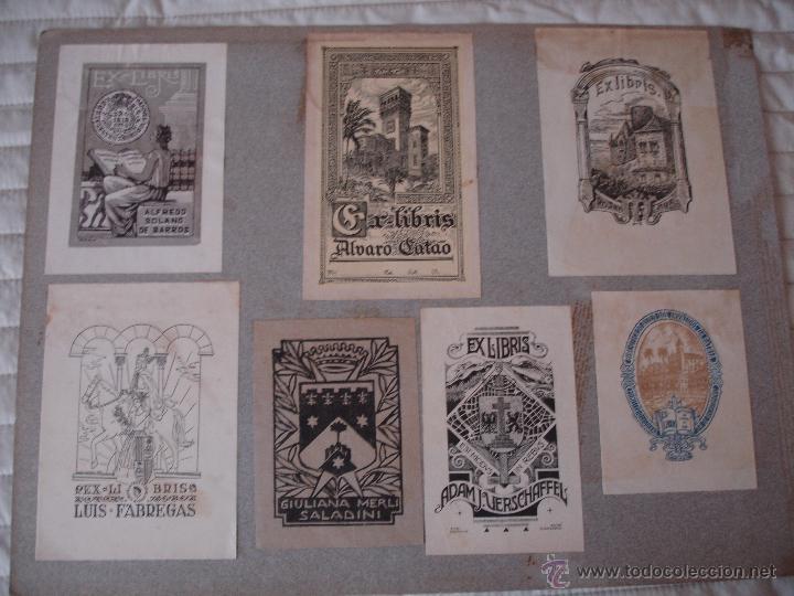 Arte: COLECCION UNICA DE EXLIBRIS TODOS DISTINTOS ORIGINALES MUY ANTIGUOS ALGUNOS FIRMADOS CUBA - Foto 66 - 42299647