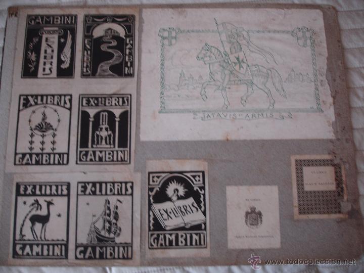 Arte: COLECCION UNICA DE EXLIBRIS TODOS DISTINTOS ORIGINALES MUY ANTIGUOS ALGUNOS FIRMADOS CUBA - Foto 67 - 42299647