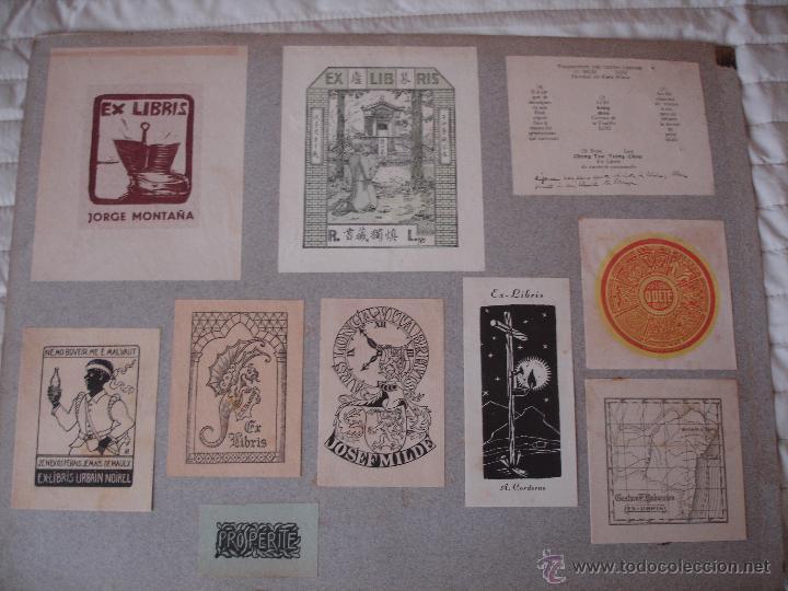 Arte: COLECCION UNICA DE EXLIBRIS TODOS DISTINTOS ORIGINALES MUY ANTIGUOS ALGUNOS FIRMADOS CUBA - Foto 70 - 42299647