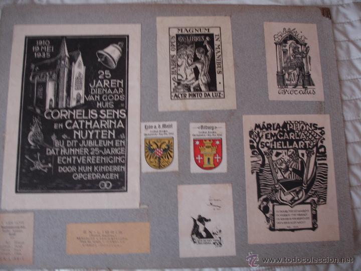 Arte: COLECCION UNICA DE EXLIBRIS TODOS DISTINTOS ORIGINALES MUY ANTIGUOS ALGUNOS FIRMADOS CUBA - Foto 71 - 42299647