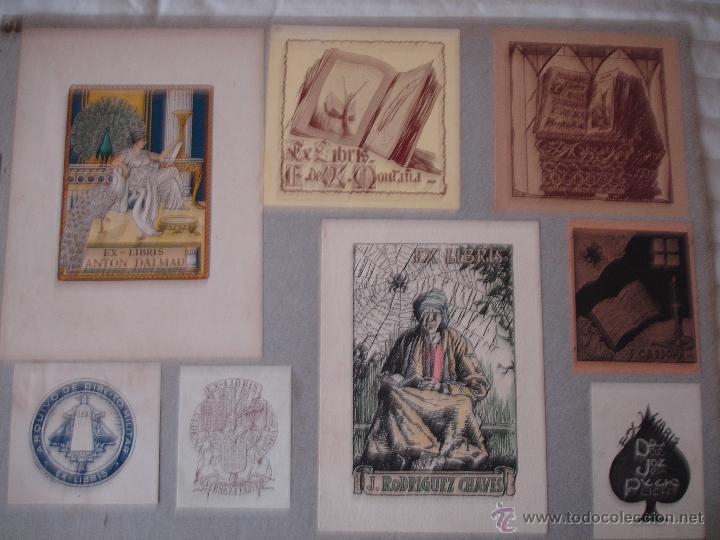 Arte: COLECCION UNICA DE EXLIBRIS TODOS DISTINTOS ORIGINALES MUY ANTIGUOS ALGUNOS FIRMADOS CUBA - Foto 74 - 42299647