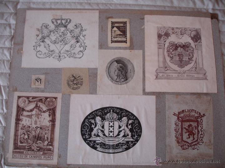 Arte: COLECCION UNICA DE EXLIBRIS TODOS DISTINTOS ORIGINALES MUY ANTIGUOS ALGUNOS FIRMADOS CUBA - Foto 75 - 42299647
