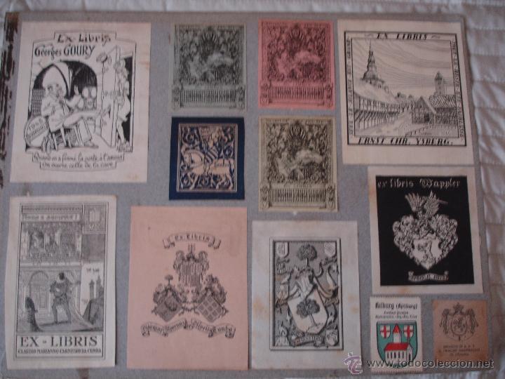 Arte: COLECCION UNICA DE EXLIBRIS TODOS DISTINTOS ORIGINALES MUY ANTIGUOS ALGUNOS FIRMADOS CUBA - Foto 76 - 42299647