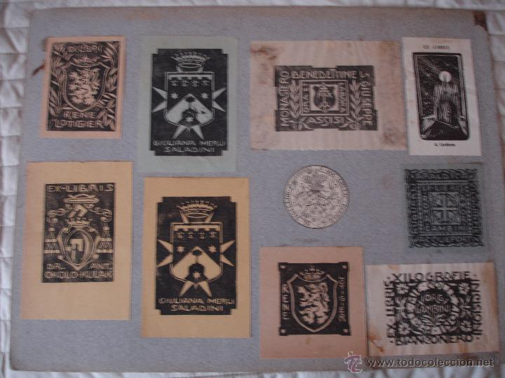 Arte: COLECCION UNICA DE EXLIBRIS TODOS DISTINTOS ORIGINALES MUY ANTIGUOS ALGUNOS FIRMADOS CUBA - Foto 77 - 42299647