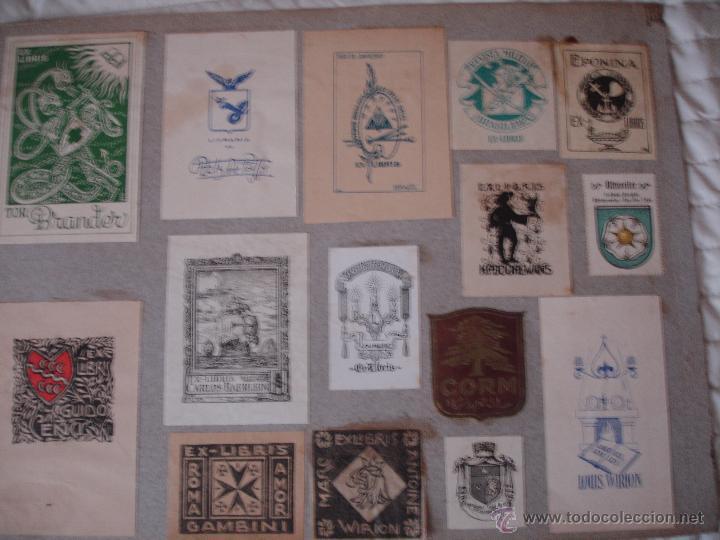 Arte: COLECCION UNICA DE EXLIBRIS TODOS DISTINTOS ORIGINALES MUY ANTIGUOS ALGUNOS FIRMADOS CUBA - Foto 79 - 42299647
