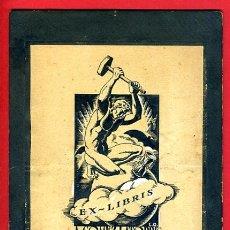 Arte: DIBUJO EXLIBRIS EX LIBRIS , PLUMILLA , 1939 , LOPEZ QUADRA , GOMEZ LATORRE , PLUMILLA , ORIGINAL ,K. Lote 43553524